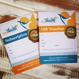 Gift Vouchers & Subscription Cards One Thimble Digital Sewing Magazine