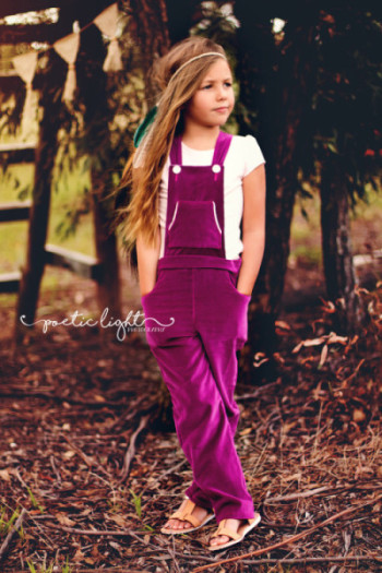 Front of Playproof Dungaree Pattern from One Thimble Issue 10