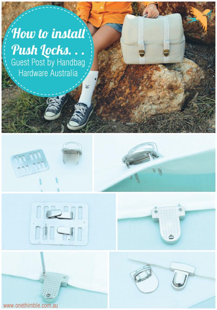 How to install Push Locks Guest Blog Post by Handbag Hardware Australia