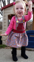 Playproof Dungaree Skirt Edition by Serger Pepper Designs, sewn by Deirdre