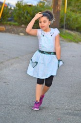 Playproof Dungaree Skirt Edition by Serger Pepper Designs, sewn by Essence