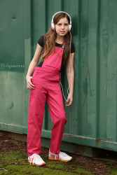 Playproof Dungaree by Serger Pepper Designs, sewn by Phat Quarters front view