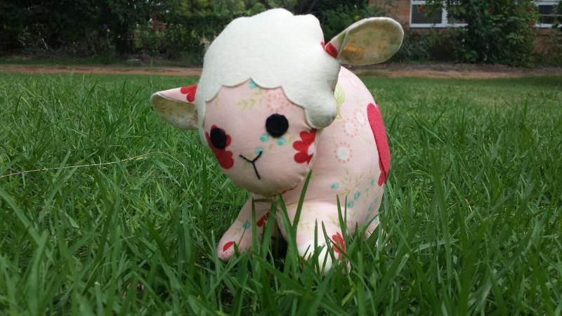 Lamb softie with felt details