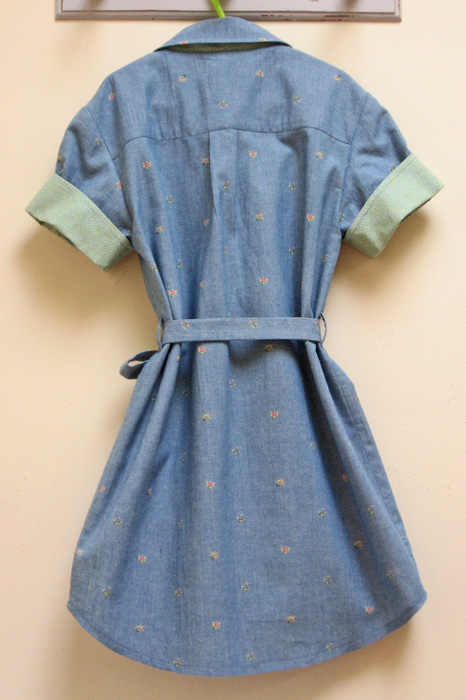 Back of Willow Shirt Dress with tie