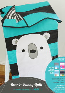 Bear & Bunny Quilt Stand Alone Cover