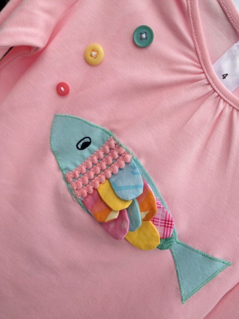 Fish scale applique