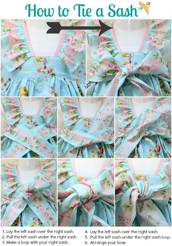 www.onethimble.com.au How to tie a sash