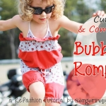 Serger Pepper - Refashion Tutorial - Bubble Romper - Title