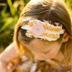 Sweet Grace Ruffled Headband Yellow