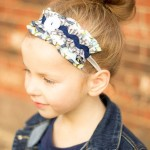 Sweet Grace Ruffled Headband Blue