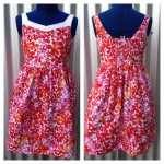 Bells Beach Dress Red Front & Back