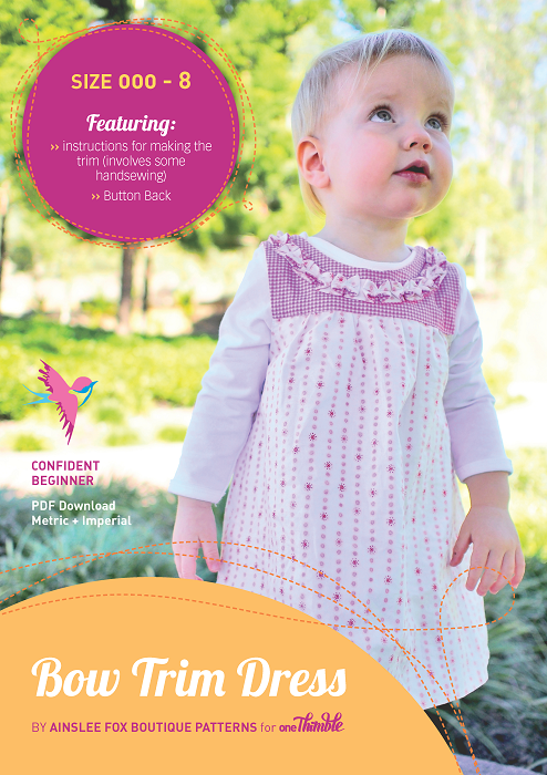 Bow Trim Dress PDF Cover