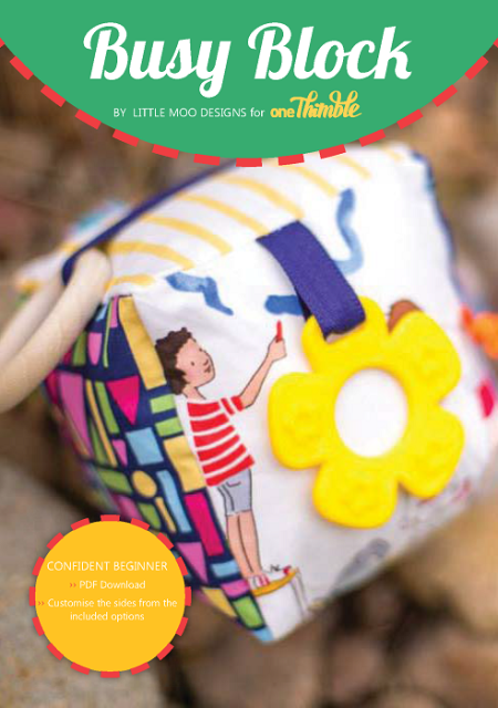 Busy Block PDF Sewing Pattern Cover