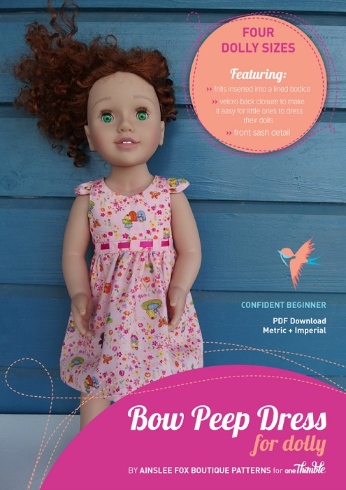 Dolly Bow Peep Dress PDF Sewing Pattern Cover