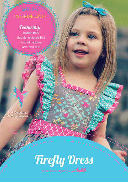 Firefly Party Dress PDF Sewing Pattern Cover