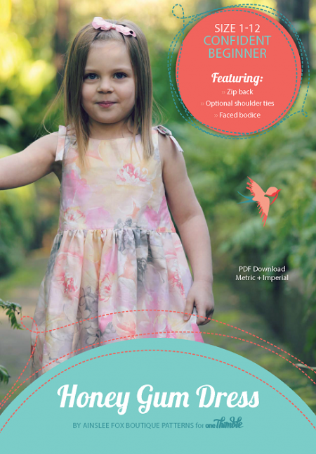 Honey Gum PDF Sewing Pattern Cover
