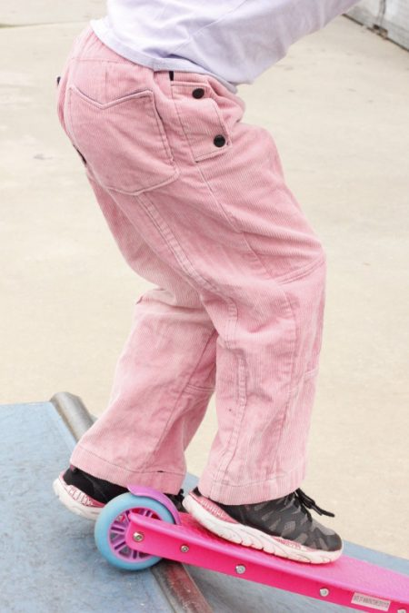 Simply Adorable Designs - Half Pipe Pants - girl version - side pocket close up