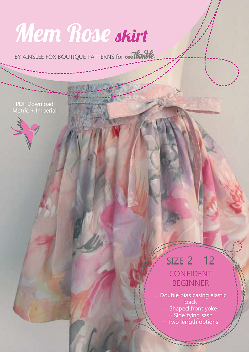Mem Rose Skirt PDF Cover