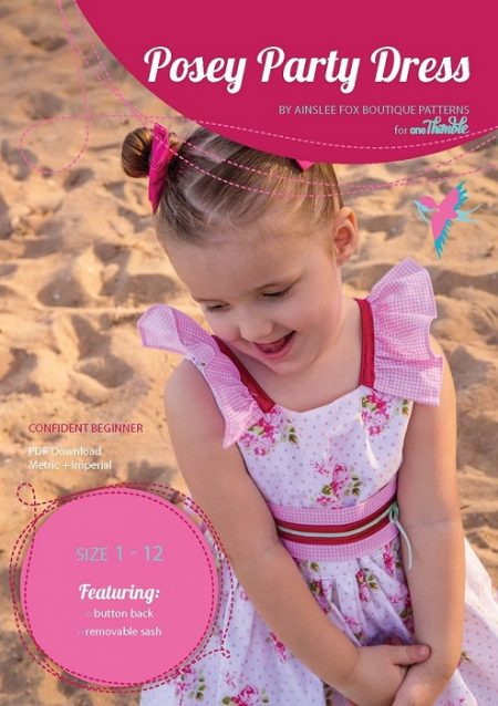 Posey Party Dress PDF Sewing Pattern Cover