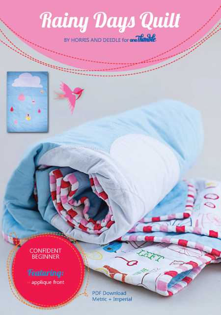 Rainy Days Quilt PDF Sewing Pattern Cover