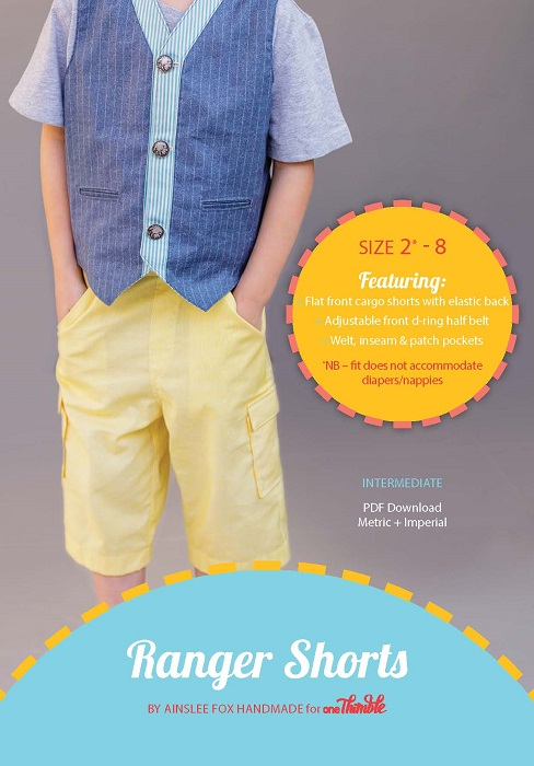 Ranger Shorts PDF Sewing Pattern Cover