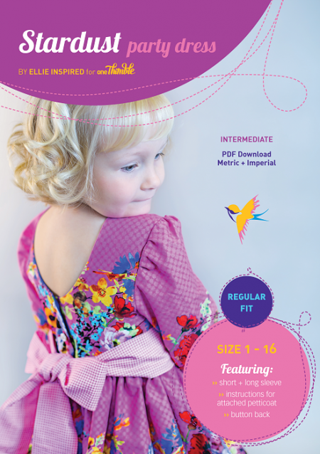 Stardust Party Dress PDF Sewing Pattern Cover Regular fit