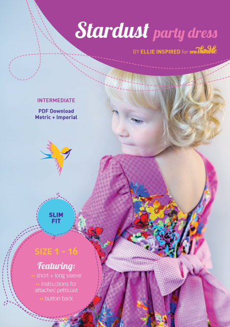 Stardust Party Dress PDF Sewing Pattern Cover Slim fit