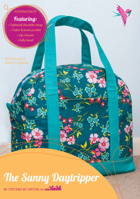 Sunny Daytripper Bag PDF Sewing Pattern Cover