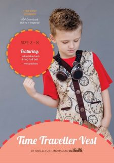 Time Traveller Vest PDF Sewing Pattern Cover