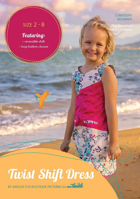 Twist Dress PDF Sewing Pattern Cover