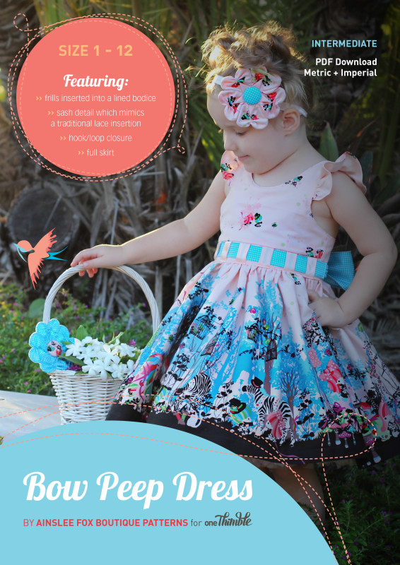 Bow Peep Girls Dress Pattern Cover
