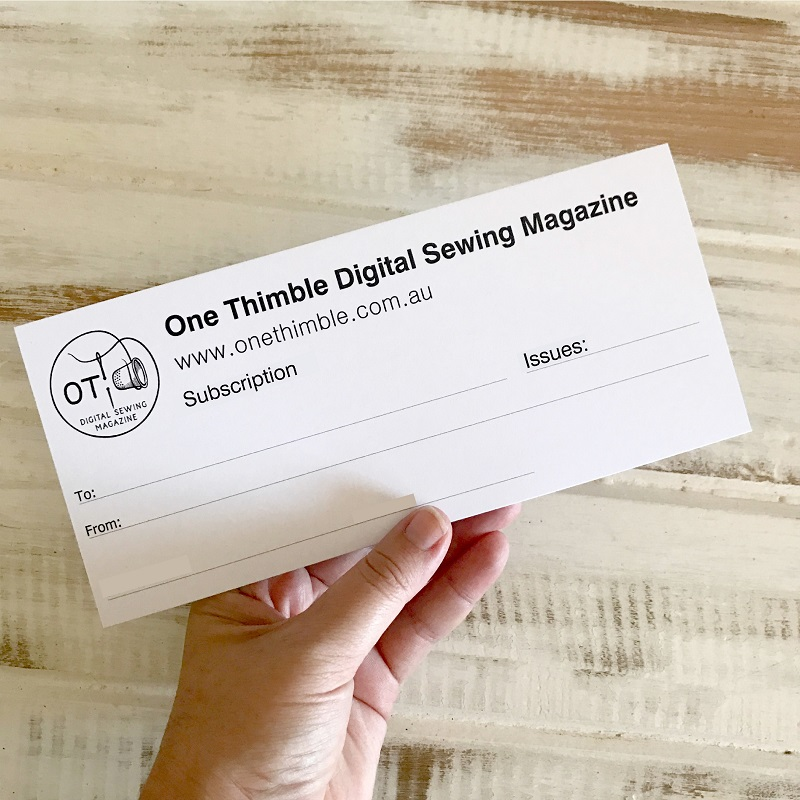 Subscription to One Thimble Digital Sewing Magazine