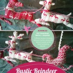 Rustic Reindeer Garland Stand Alone cover