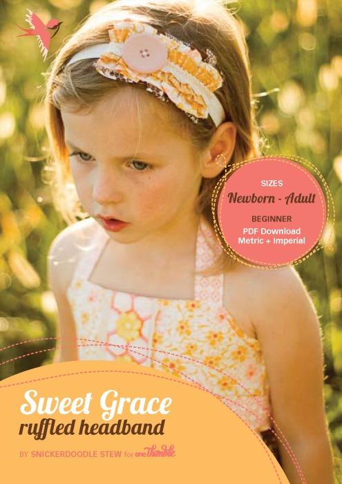 Sweet Grace Ruffled Headband PDF Cover