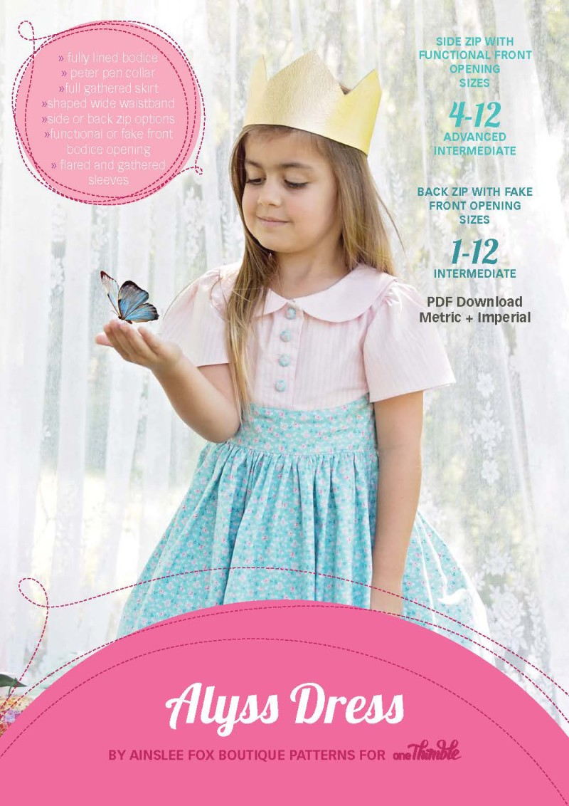 Alyss Party Dress PDF Sewing Pattern Cover