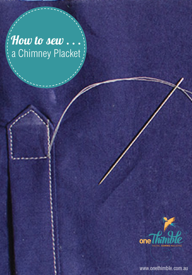 How to sew a chimney placket