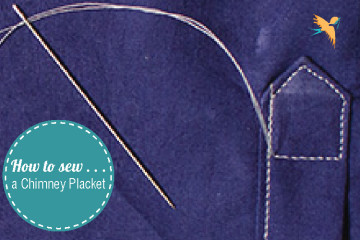 How to sew a chimney placket thumbnail