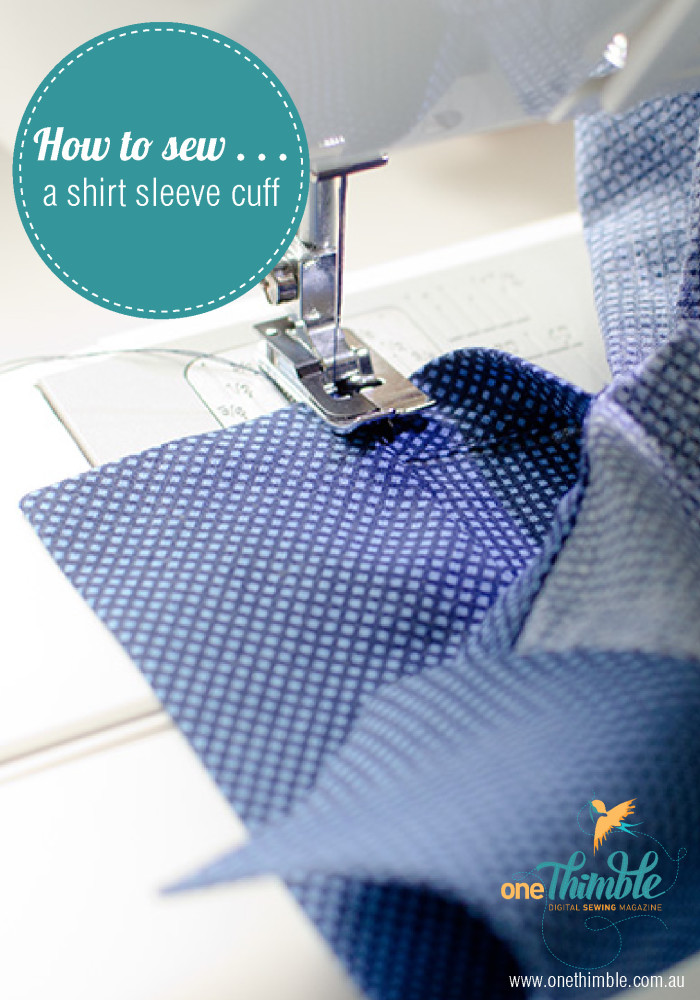 How to sew a shirt sleeve cuff