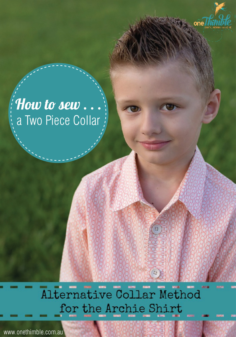 How to sew a two piece collar