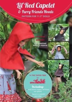 Lil Red Capelet & Furry Friends Hoods PDF Pattern Cover