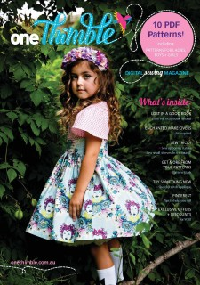 One Thimble Issue 7 Digital Sewing Magazine Cover