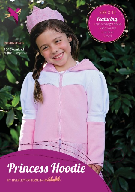 Princess Hoodie Stand Alone Pattern Cover