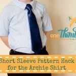Short Sleeve Pattern Hack for the Archie Shirt