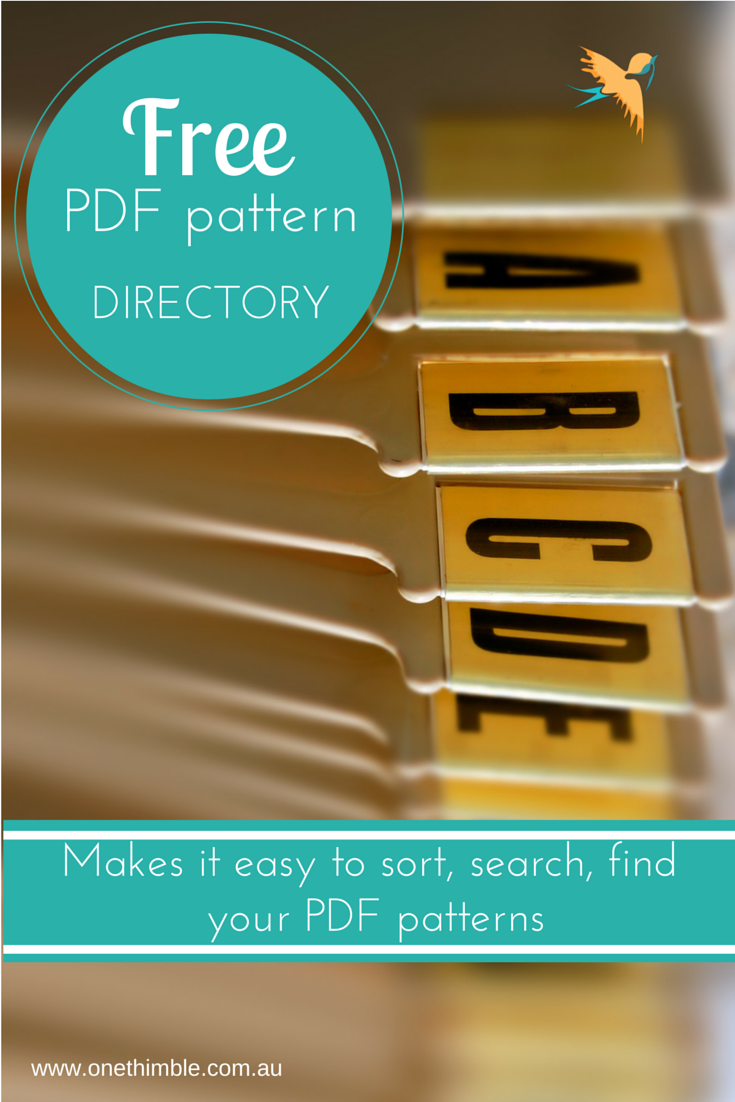 Downloadable Free PDF Pattern Directory