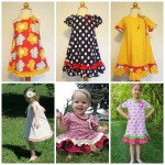 Examples of the 3 options for the Amber Swing Dress