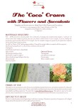 Coco Flower Crown - Requirements