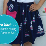 How to alter the Cosmos Skirt to add a regular elastic waist band.