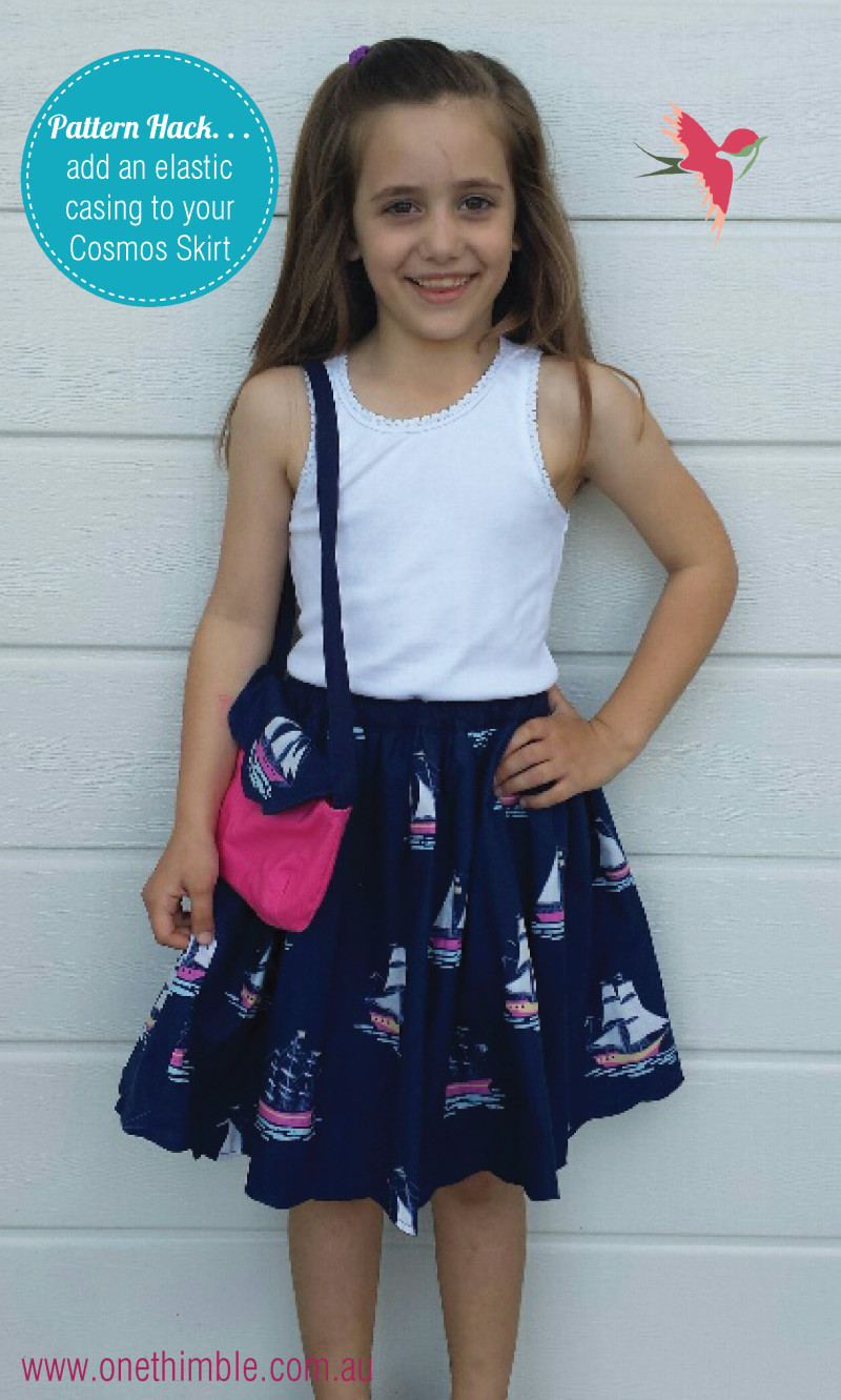 How to add an elastic casing to your cosmos skirt blog flyer
