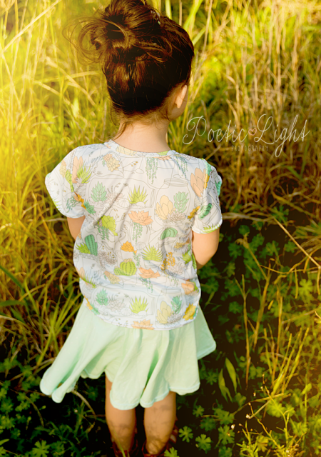 Back of the butterfly blouse