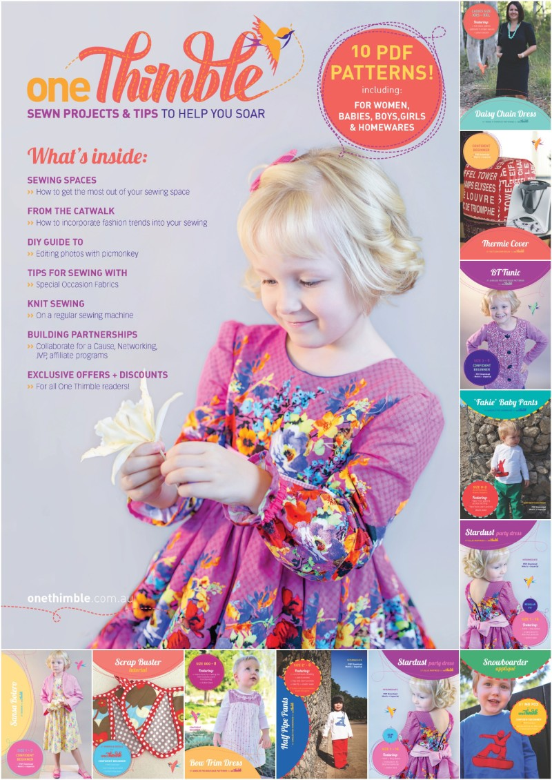 One Thimble Issue 3 - Included PDF Sewing Patterns